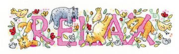 Relax from  Karen Carter Collection Cross Stitch Kit
